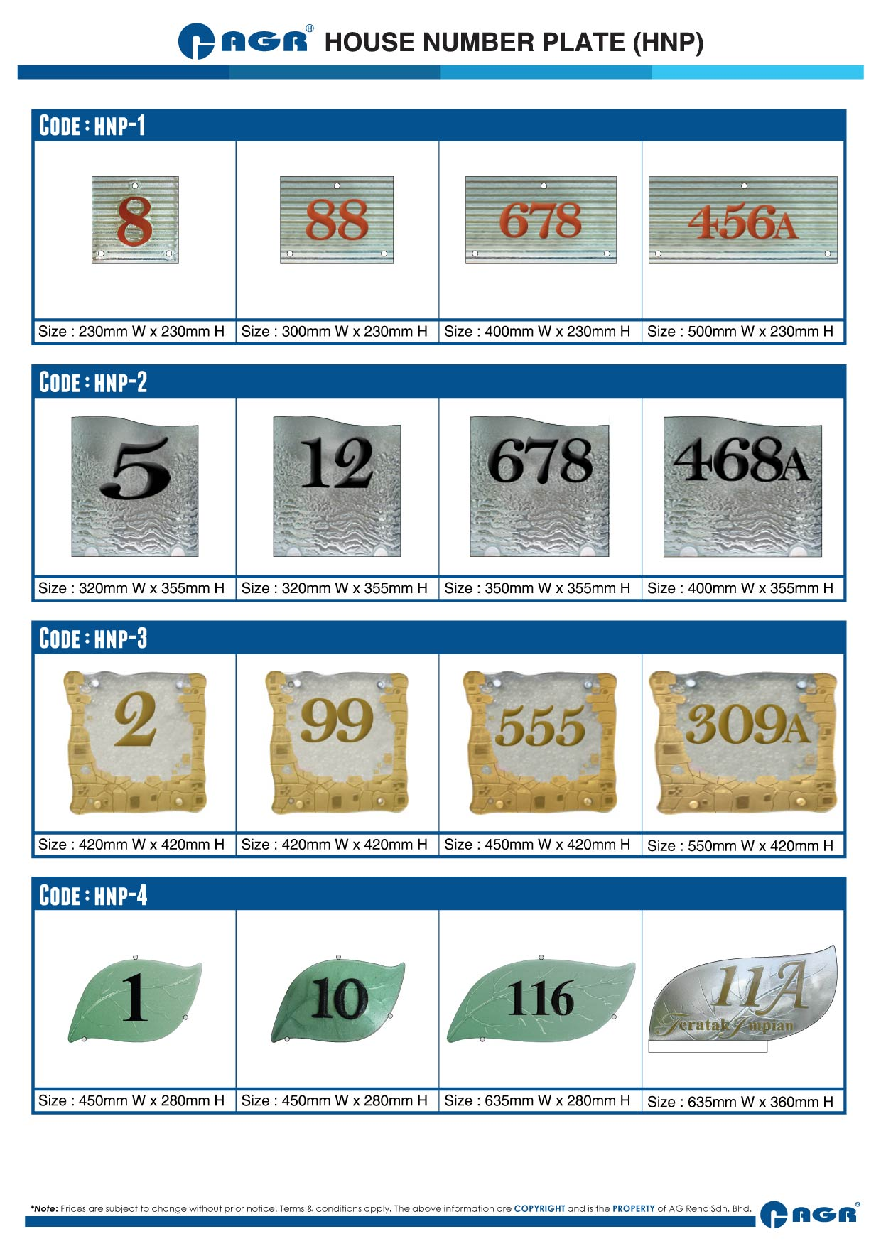 House Number Plate Ag Reno Designer Glass Ag Reno Sdn Bhd