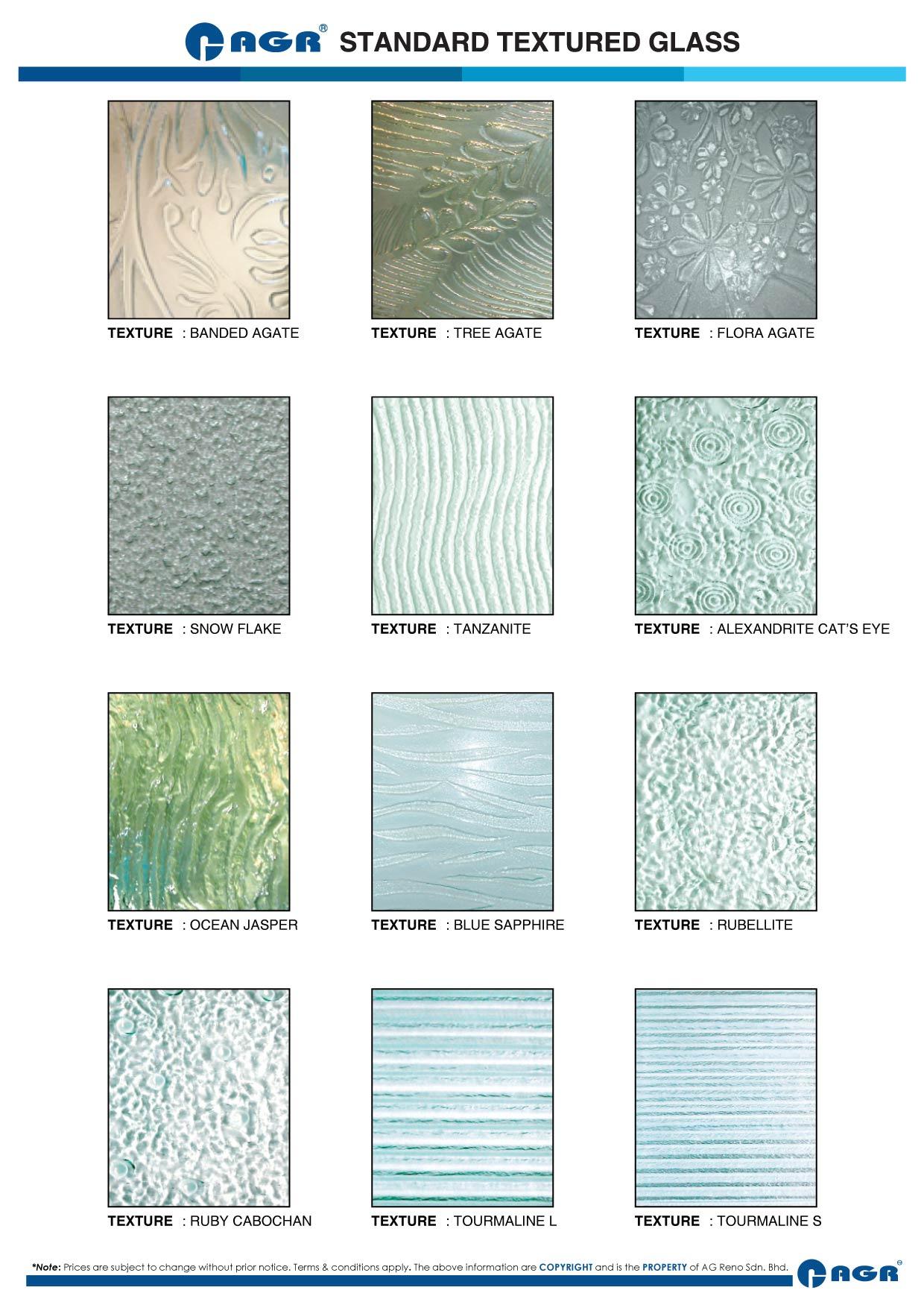 Textured Glass Malaysia AG Reno Designer